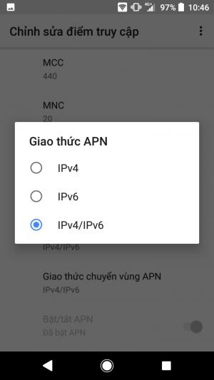 Giao thức APN IPv4/IPv6
